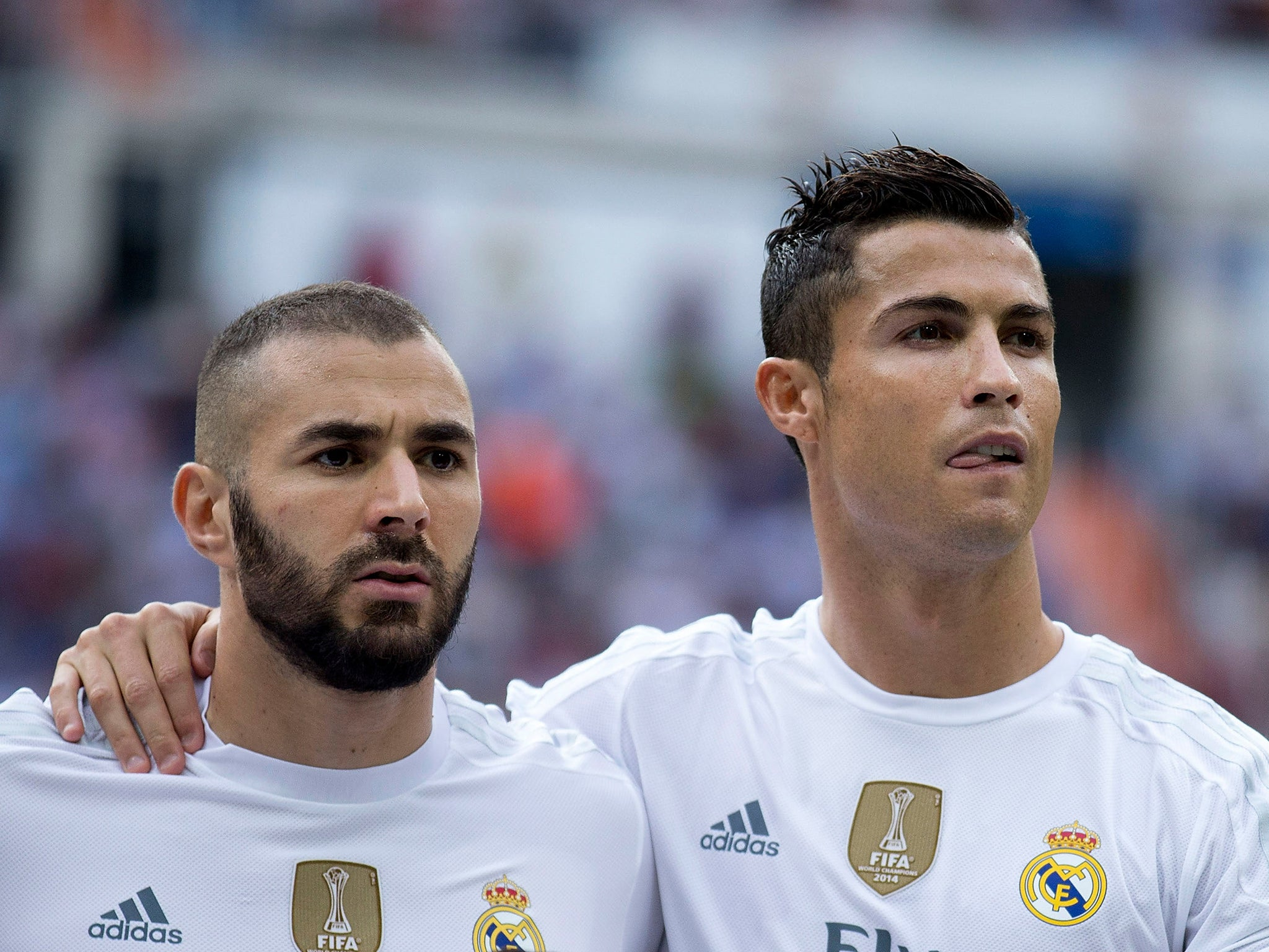 Image result for photo cristiano ronaldo and benzema