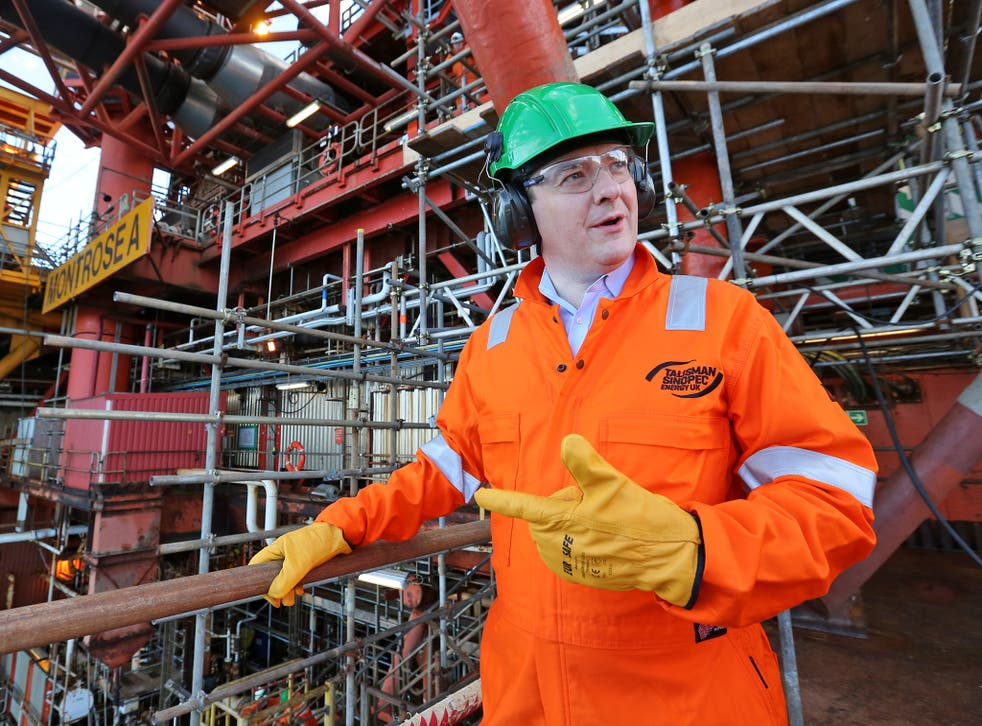 George Osborne visiting the Montrose Platform in the North Sea in 2013