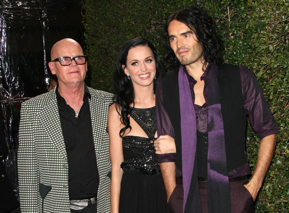 Perry with her father and ex-husband Russell Brand in 2011