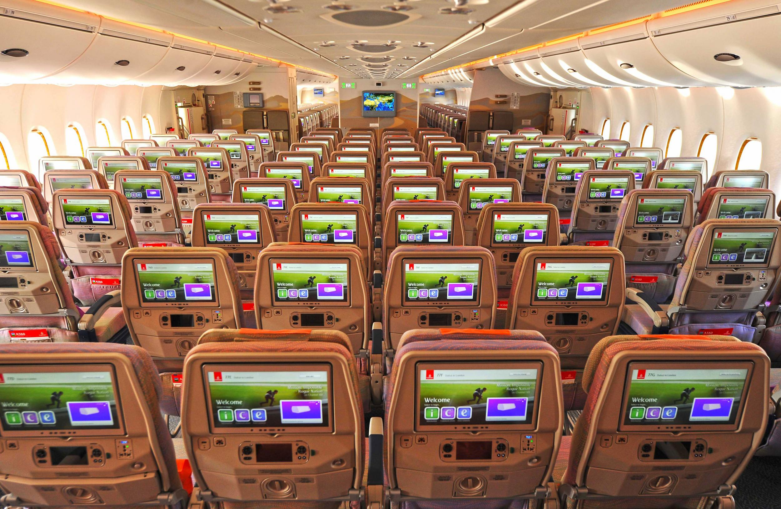 Image result for EMIRATES A380 SEATS