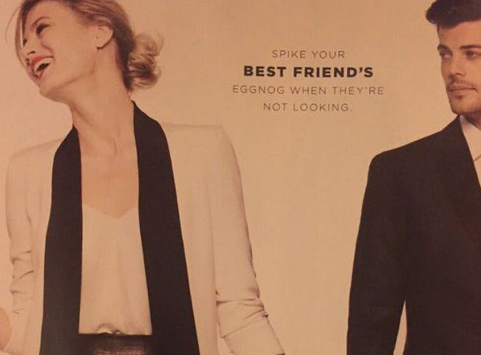 This advertisement is part of Bloomingdale's new holiday catalogue