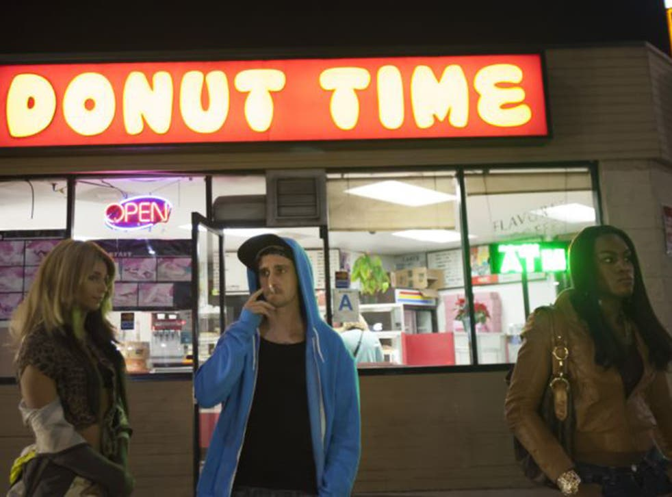 Night and the city: Kitana Kiki Rodriguez, James Ransone and Mya Taylor in the low-budget marvel 'Tangerine'