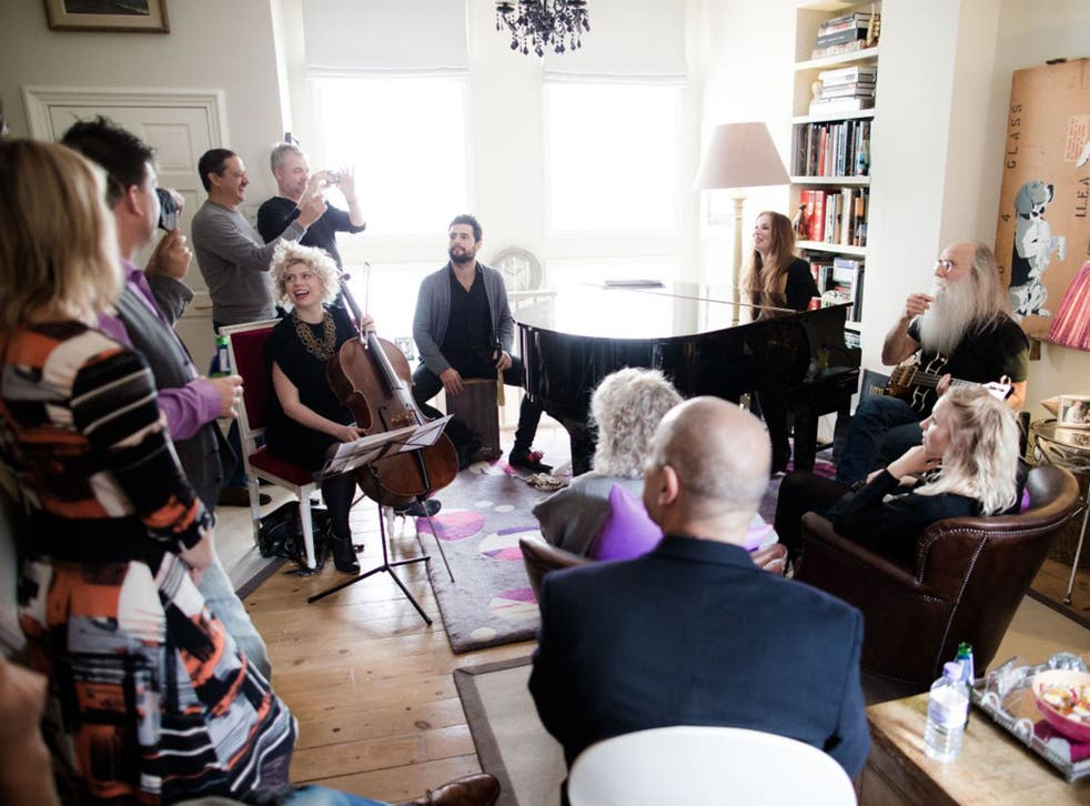 Make yourselves at home: Judith Owen performs in her front room in Notting Hill