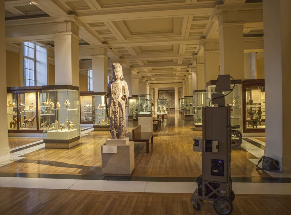 A Google camera tours the British Museum. It took 15 months to film all 85 galleries