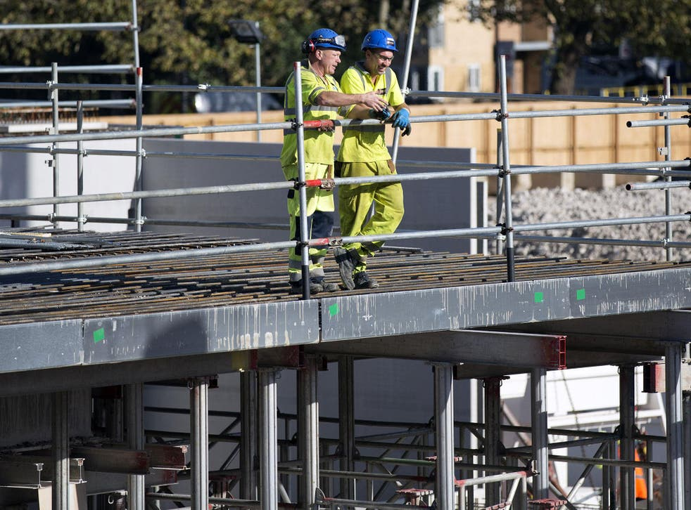 The Royal Institution of Chartered Surveyors said that 8 per cent of the UK's construction workers are EU nationals, accounting for some 176,500 individuals
