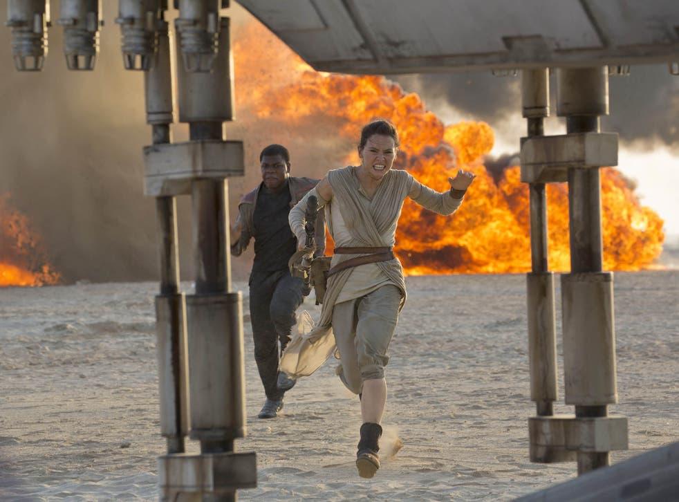 A still from the new Star Wars film