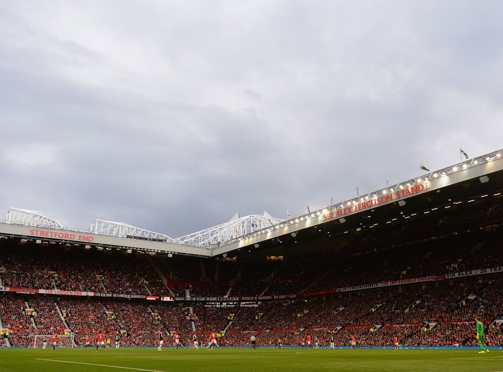 A general view of Manchester United's Old Trafford stadium