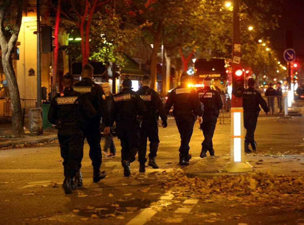 French police outside the Bataclan Concert Hall