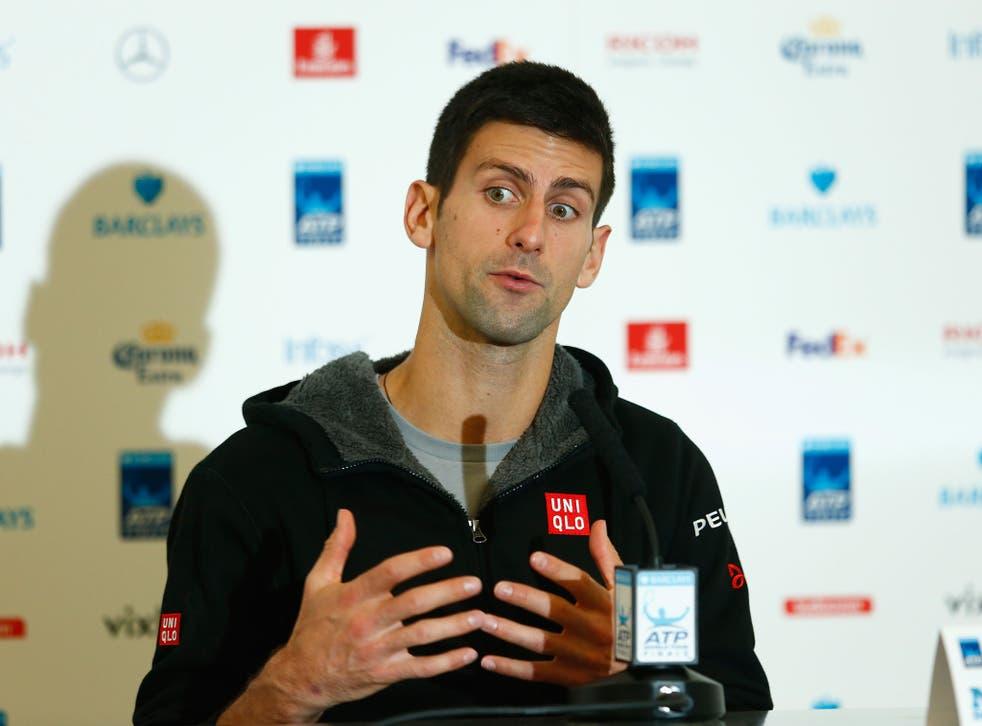 World No 1 tennis player Novak Djokovic