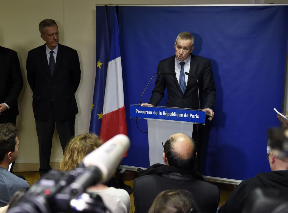 Francois Molins delivers a statement  in Paris, a day after a series of coordinated attacks in and around Paris.