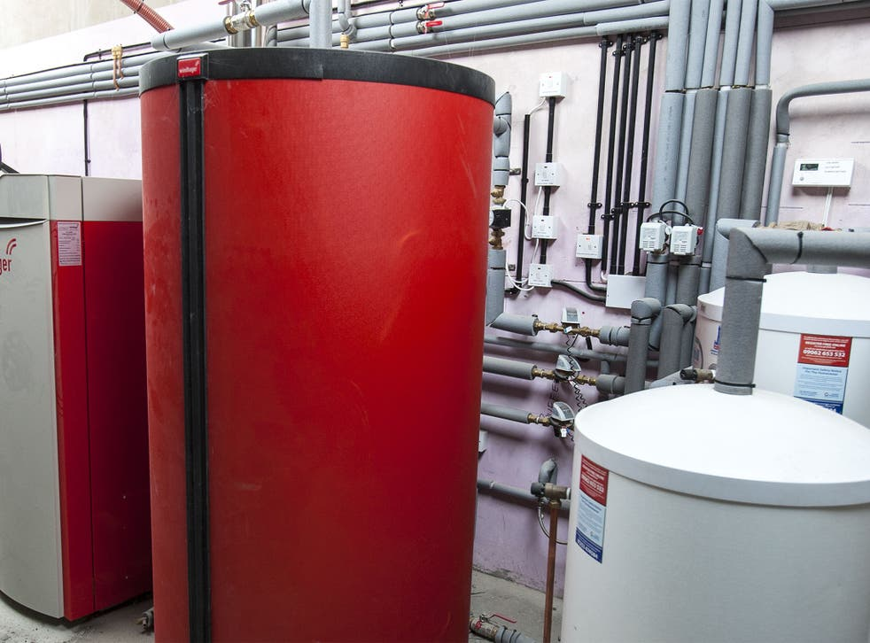 A biomass boiler like this can be used to heat large buildings using waste material from farms and restaurants