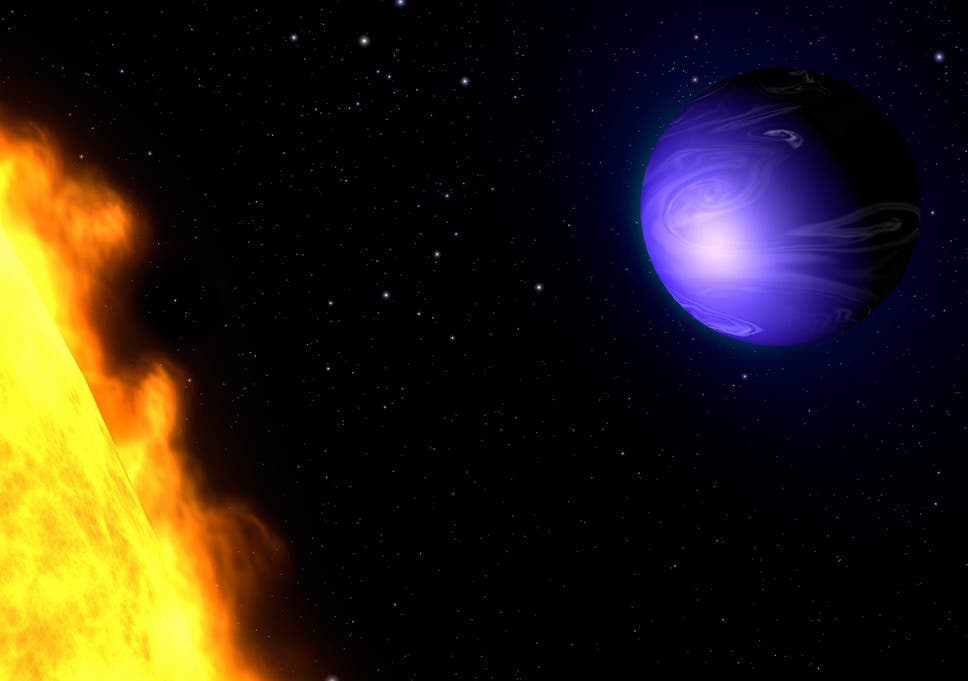 Alien planet seen being battered by 5,400mph winds in first weather ...