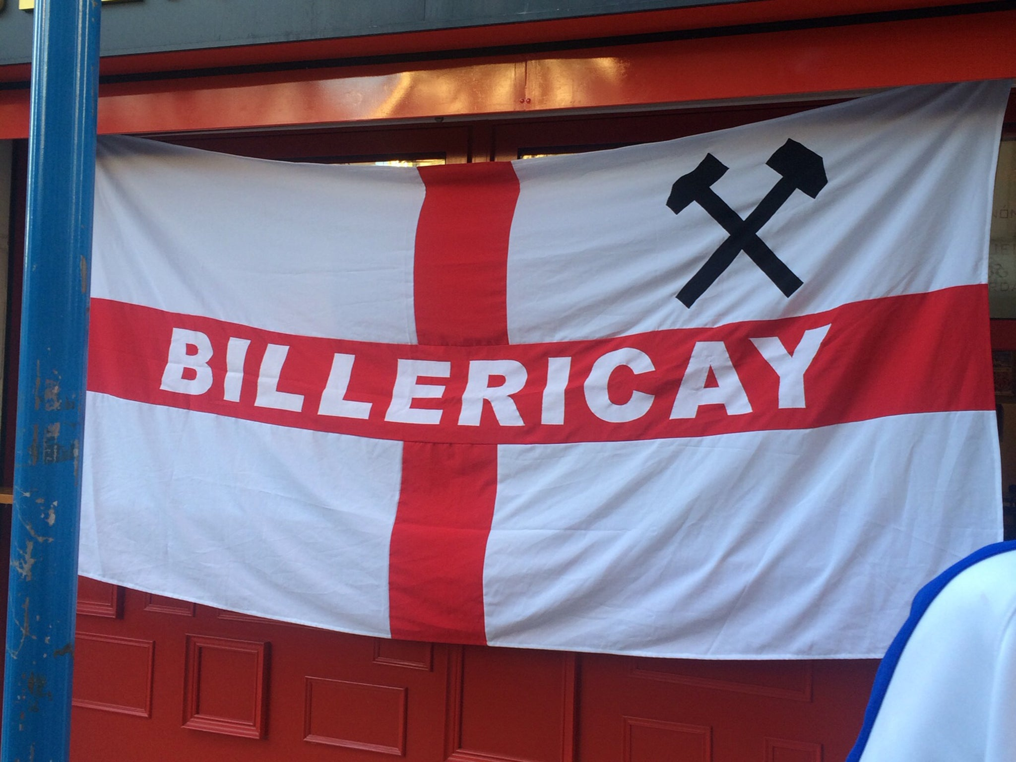 west ham fans have their flag removed at england game as crossed