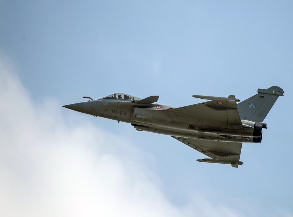 A French Dassault Rafale fighter jet flies during a 2014 air show