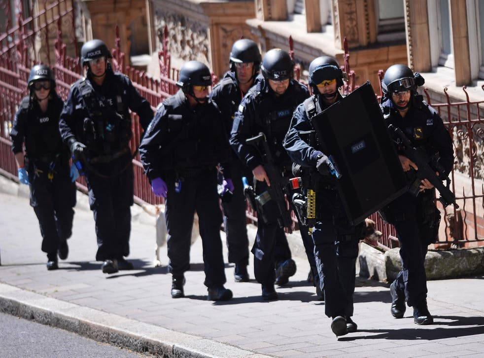 Members of the emergency services take part in a major counter-terrorism exercise in London earlier this year