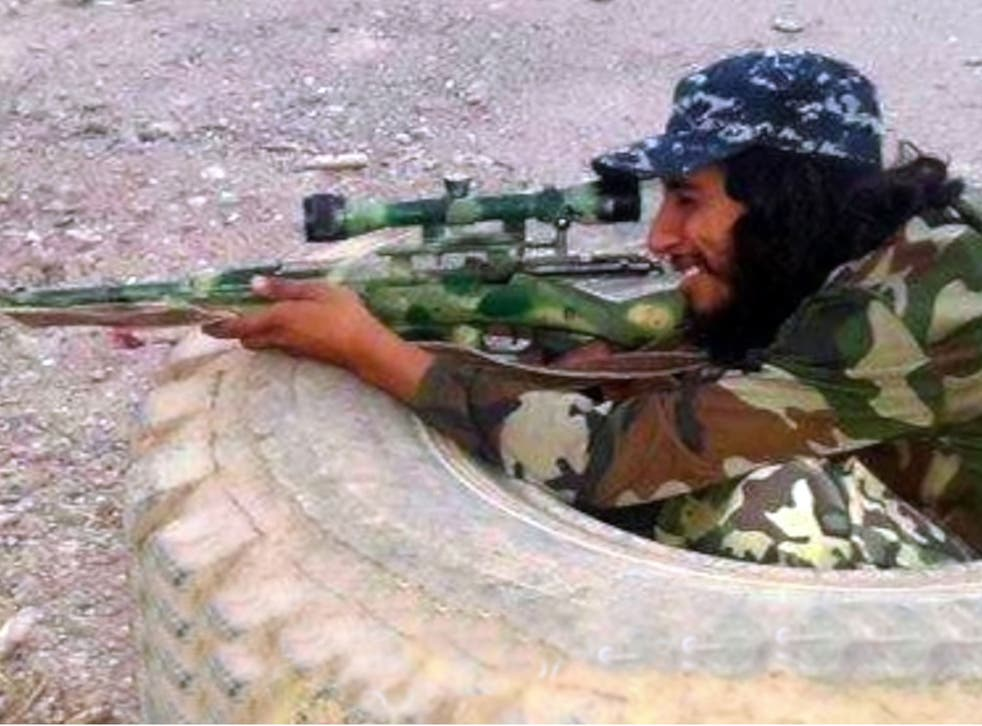 An Isis video image of Abdelhamid Abaaoud, the man suspected of being behind Friday´s attacks in Paris