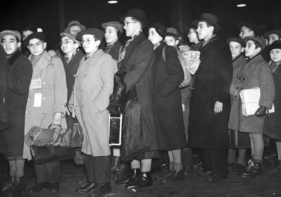 Young Jewish refugees from Germany and Austria arrive at Liverpool Street Station to spend Christmas with various foster parents, 23rd December 1938