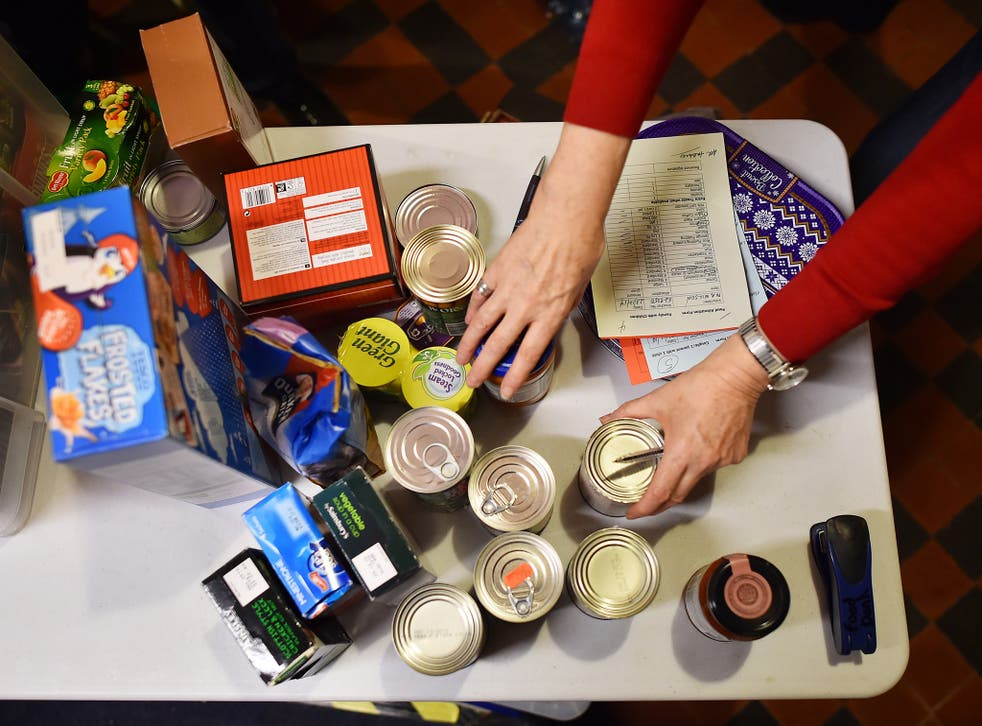The number of people using food banks has risen by seven per cent in the last year