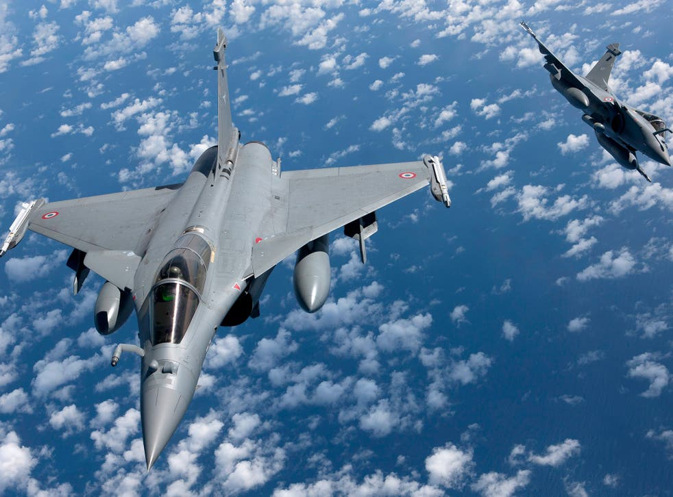 French Rafale fighter jets in flight