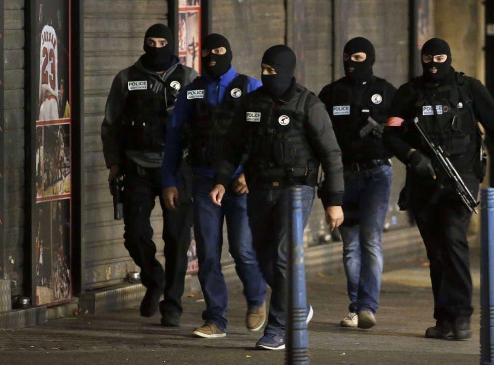 French policemen patrol in the northern Paris suburb of Saint-Denis