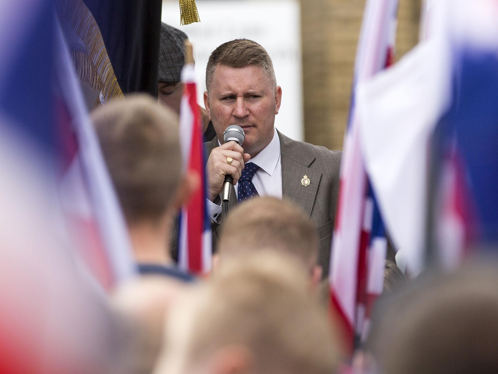 Britain First's leader was just arrested