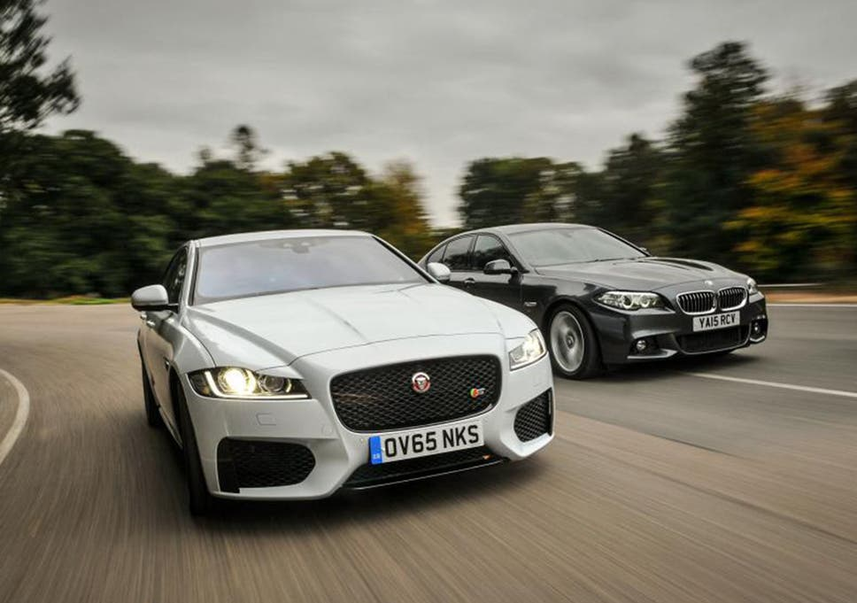 Jaguar Xf Vs Bmw 5 Series Two Big Hitters Face Off The Independent