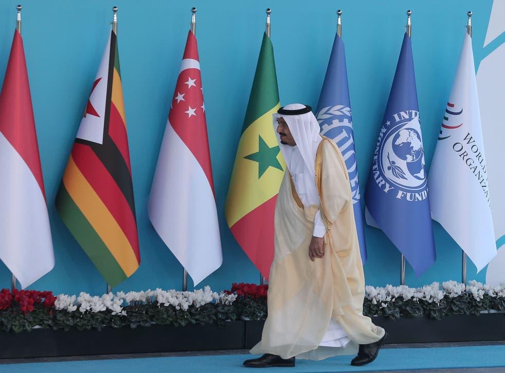 King Salman at the G20 summit in Turkey in November 2015