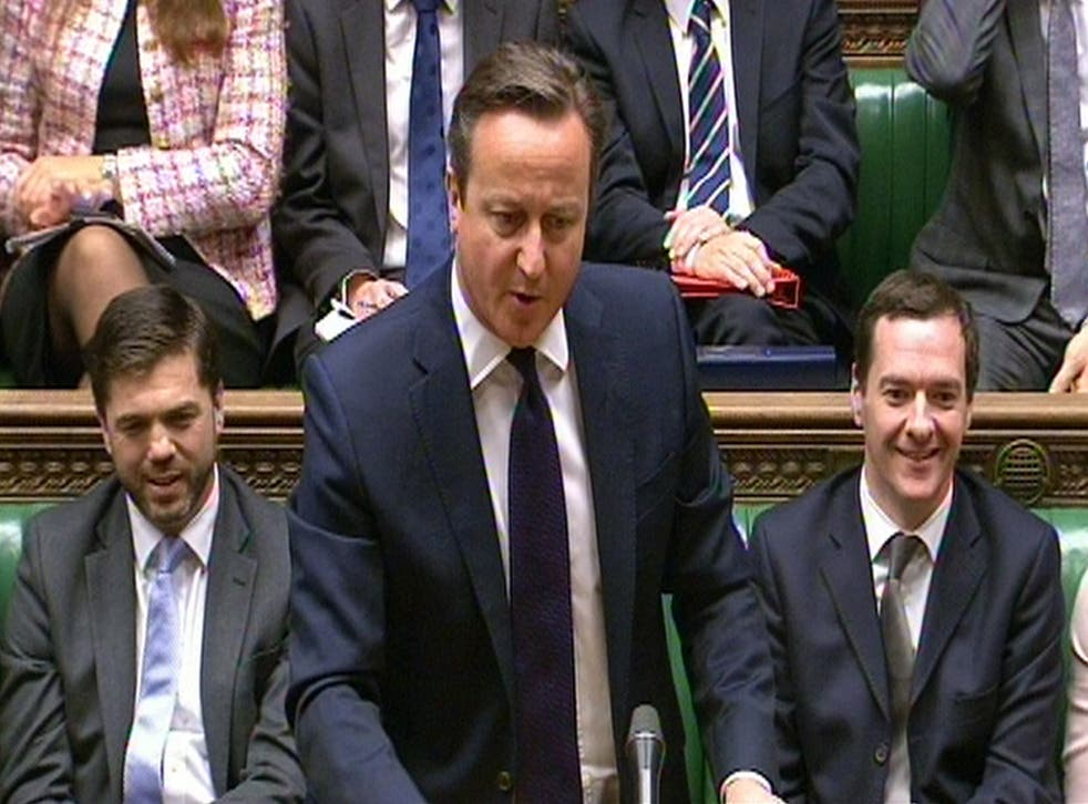 David Cameron at Prime Minister's Questions on Wednesday
