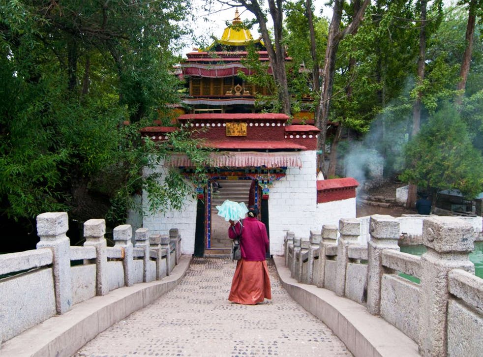 Path to enlightenment: the Lukhang Palace, the walls of whose top floor were covered with murals unlike any others in the world