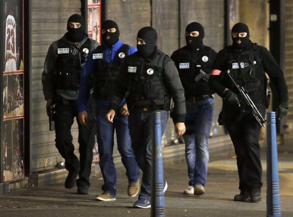 French policemen in the northern Paris suburb of Saint-Denis, early on Wednesday morning