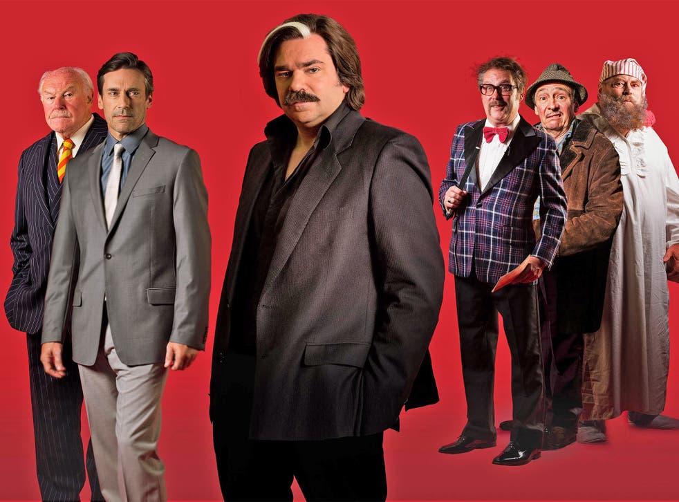 Slice of life: Timothy West, Jon Hamm, Matt Berry, Jim Moir, Paul Whitehouse and Brian Blessed in Channel 4's 'Toast of London'