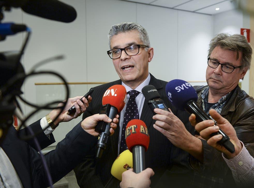 nders Thornberg, head of Swedish Security Service, addresses the press