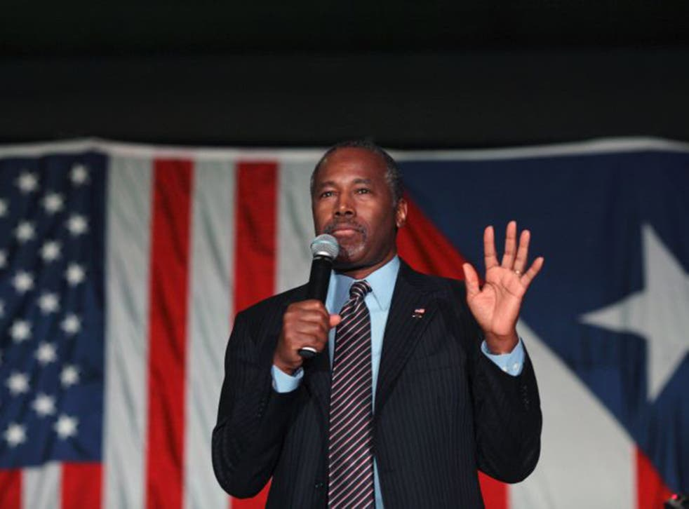 Ben Carson Us Map Ben Carson's campaign makes US map with five states in wrong