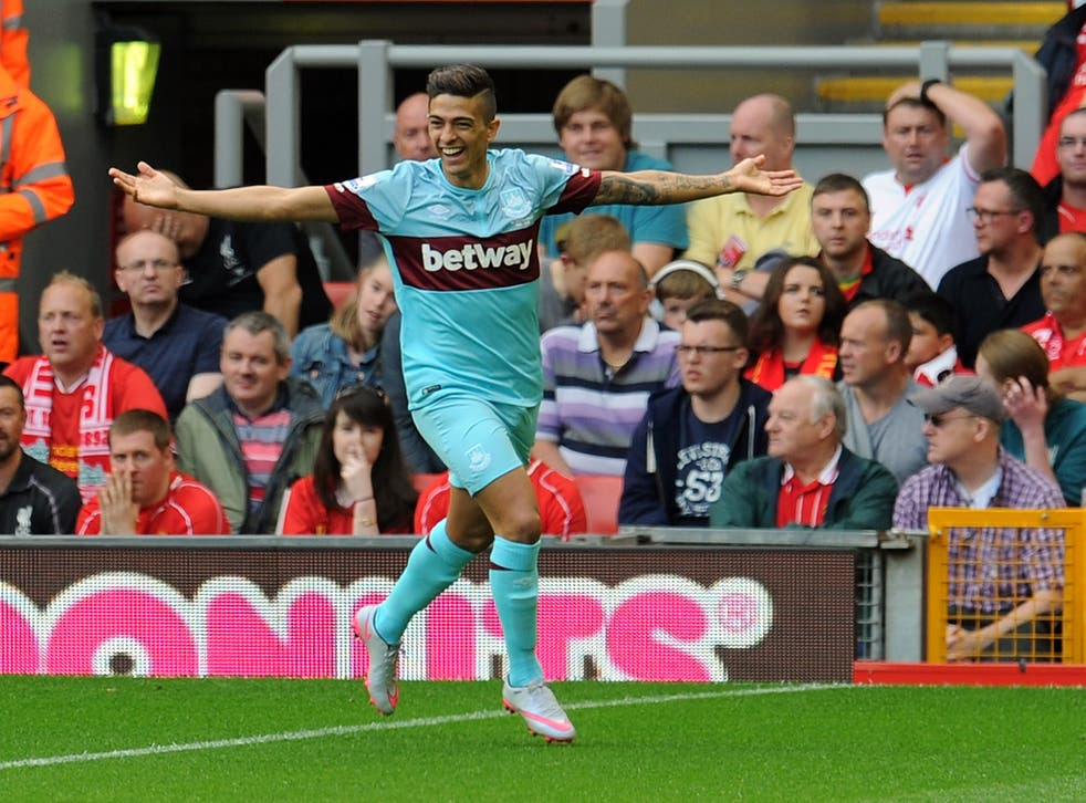 West Ham loanee Manuel Lanzini has been linked with Liverpool