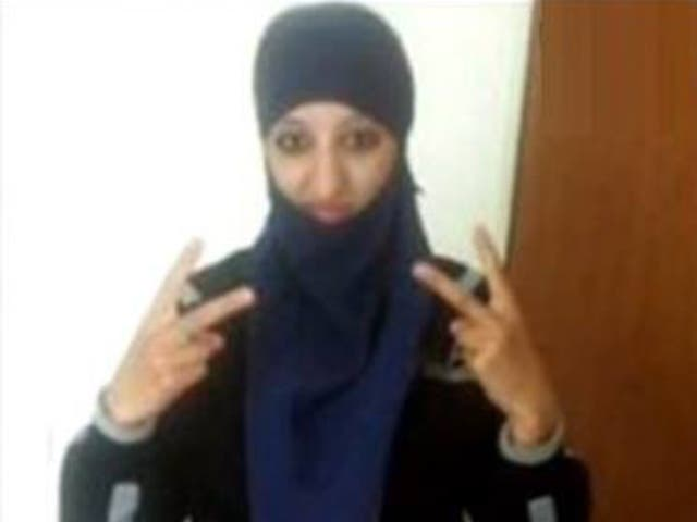 Hasna Aitboulahcen pictured on Facebook; she started to wear a hijab after the Charlie Hebdo massacre