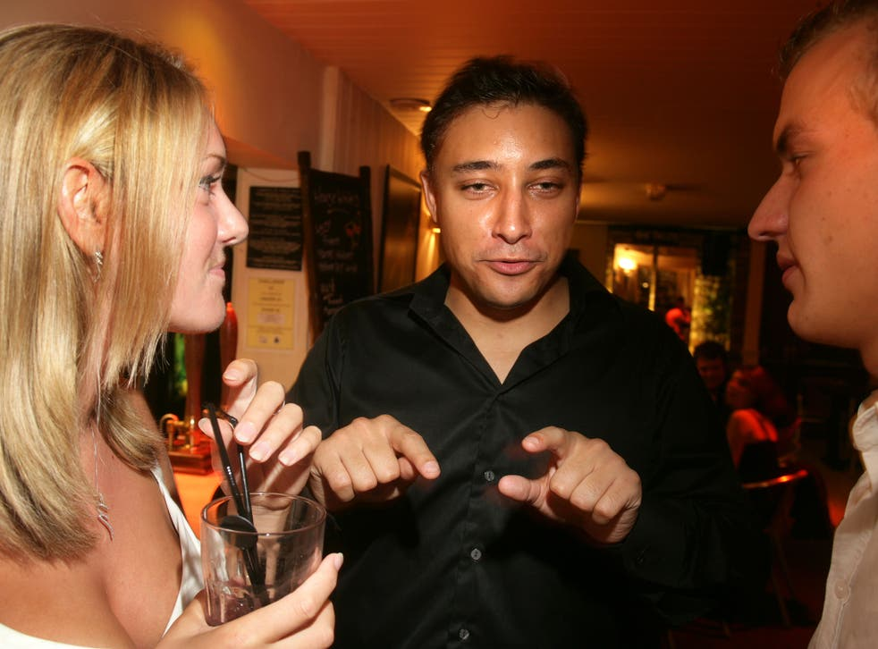 Former youth organiser Mark Clarke, centre, pictured at a Conservative event in 2006, has been expelled from the party