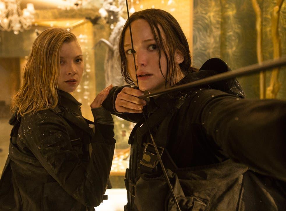 On target: Natalie Dormer and Jennifer Lawrence in 'The Hunger Games: Mockingjay Part 2'
