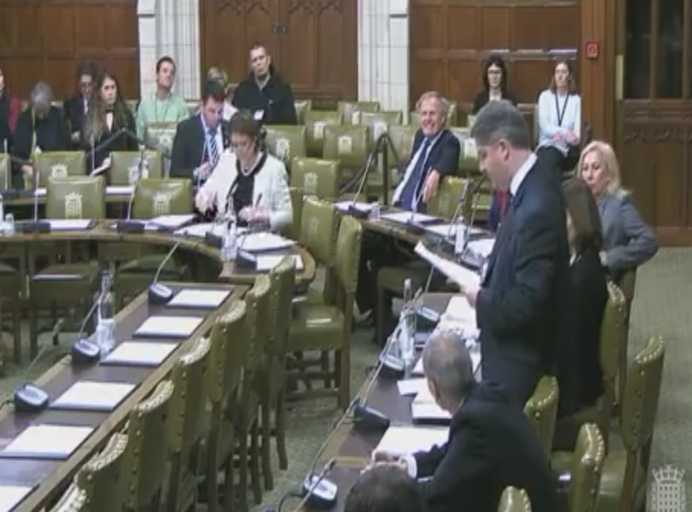 Tory MP Philip Davies addresses the debate at Westminster Hall