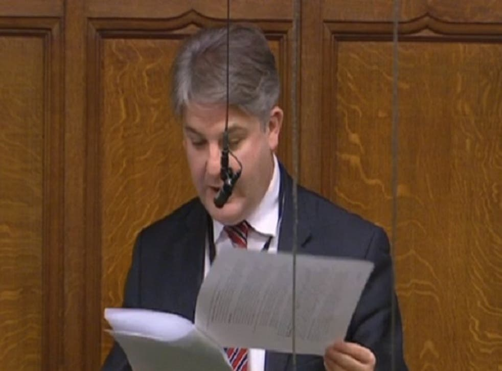 Philip Davies came to the debate armed with pages and pages of notes for his speech
