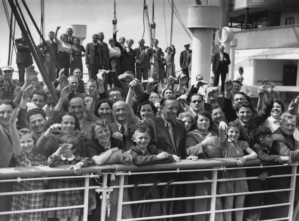 Some of the 700 Jewish refugees aboard Hamburg-America liner St Louis in 1939