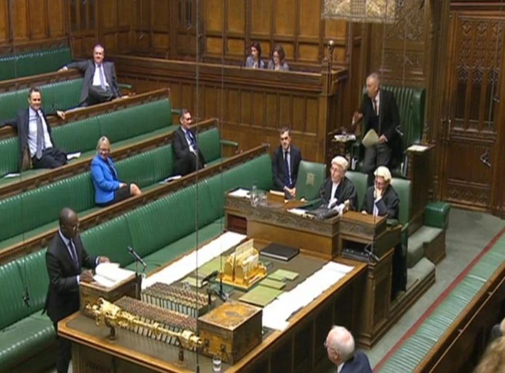 Education minister Sam Gyimah spoke until the debate ended