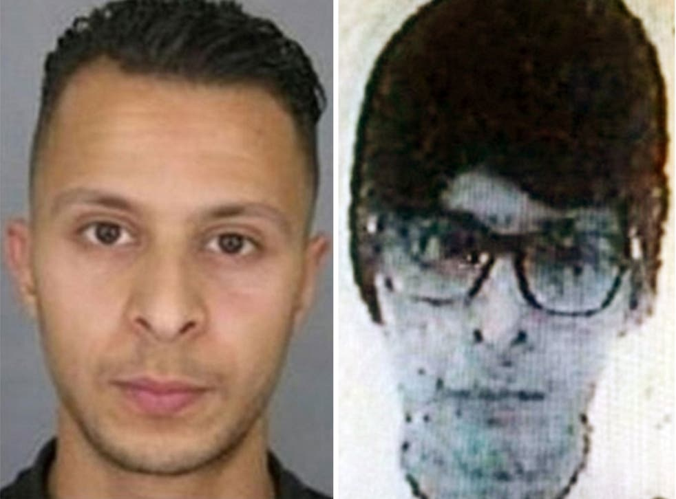Salah Abdeslam, left, and pictured right in the disguise he was thought to be wearing following the Paris attacks, is Europe's most wanted man