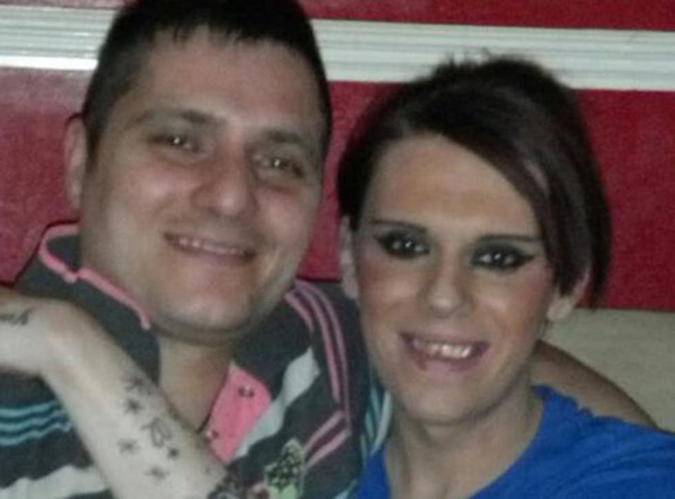Vicky Thompson (right), with boyfriend Robert Steel