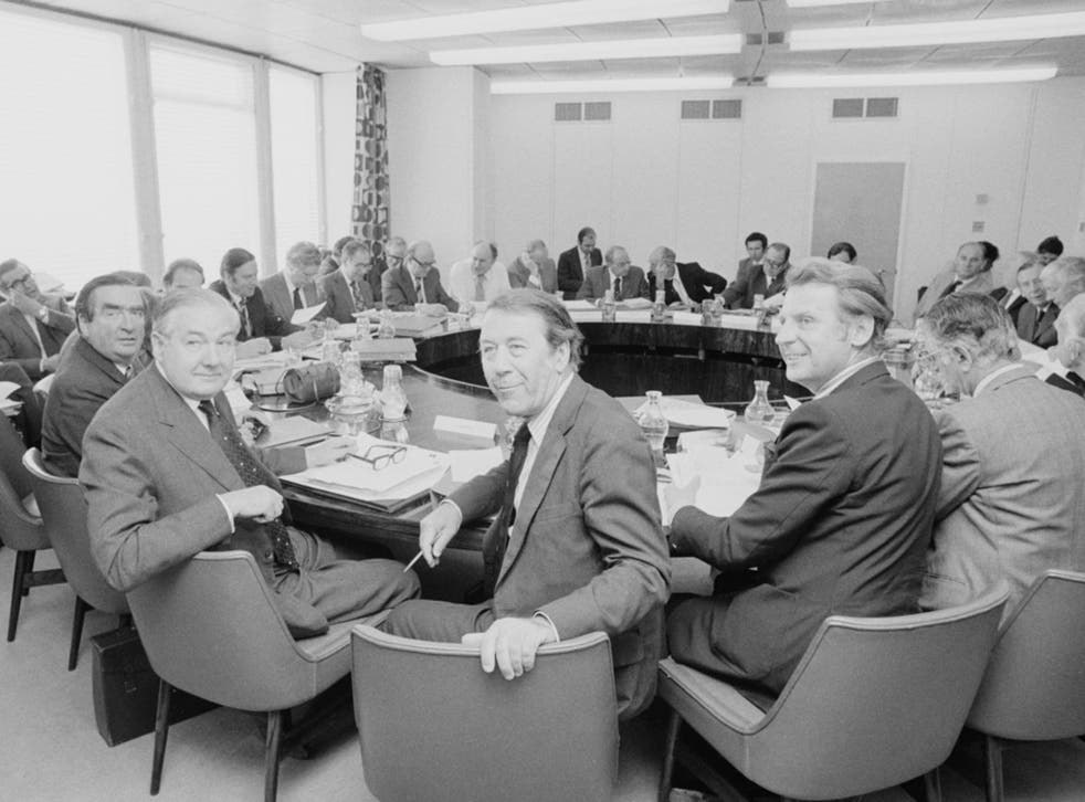 James Callaghan, second from left, chairs his first 'Neddy' meeting in 1976