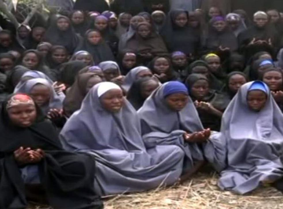 Some of the kidnapped schoolgirls have been used a human shields, a Nigerian general has claimed