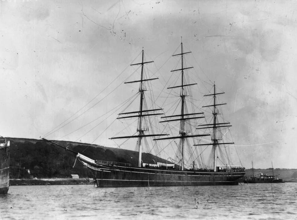 The Cutty Sark clipper in 1890