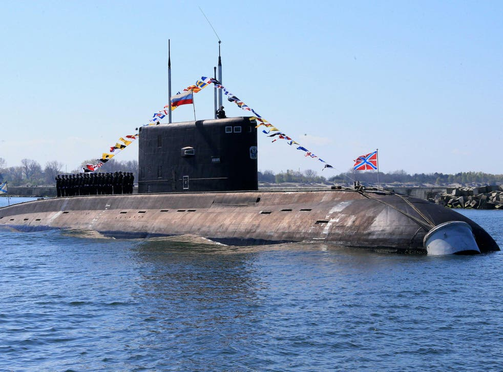 File image of Russian submarine from May 2015