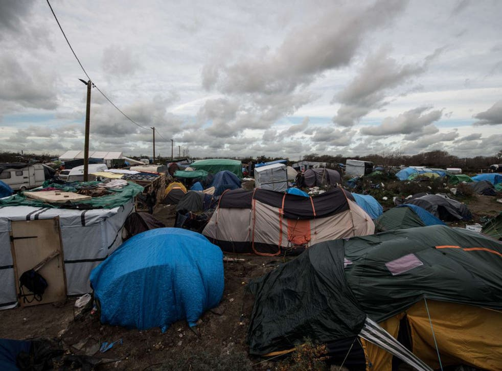 """The """"Jungle"""" in refugee camp at Calais"""
