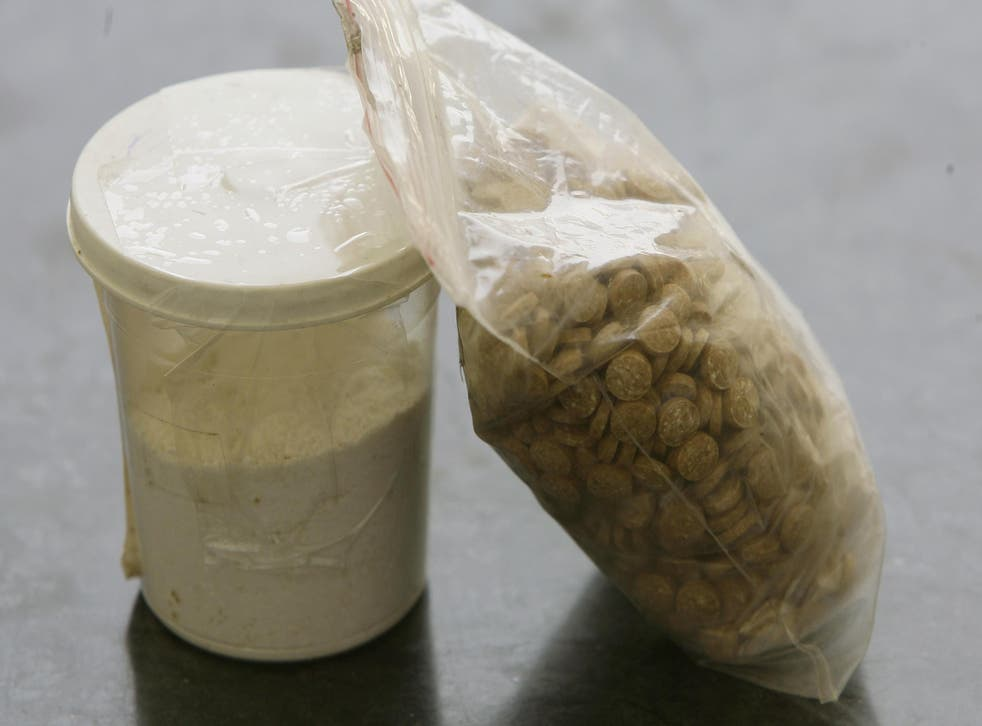 Captagon pills (right) are popular amongst all factions in the Syrian civil war