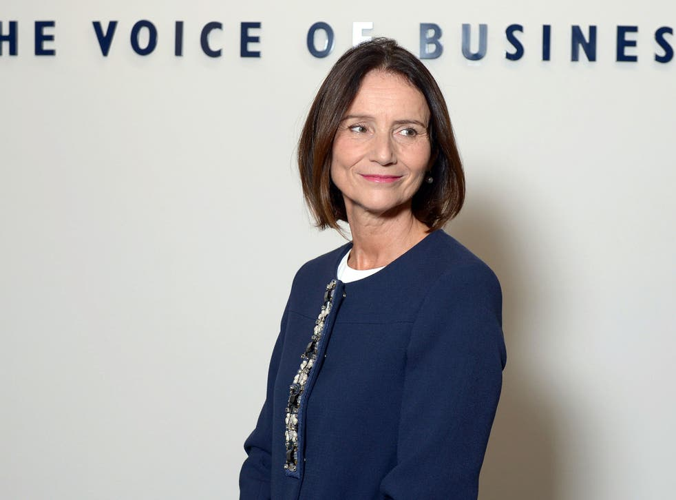 Carolyn Fairbairn, director general of the CBI, has called for a change in tone from the Tories